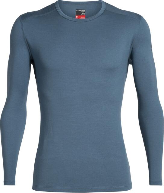 Icebreaker 260 Tech Langærmet T shirt Herrer, thunder